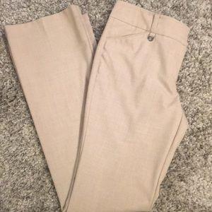 New York & Company Tan Straight leg dress pants